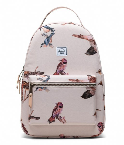 Herschel Supply Co.  Nova Mid Volume Birds of Herschel 13 Inch natural birds (04086)